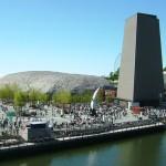 Uno sguardo sulla zona 1 di Aichi 2005. I padiglioni dell'esposizione furono costruiti il più possibile in materiali riciclati per ridurre l'impatto ambientale