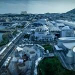 Una veduta aerea di Yeosu 2012