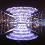 L'asse dell'Expo di notte