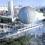 Una panoramica del sito dell'esposizione specializzata di Genova 1992