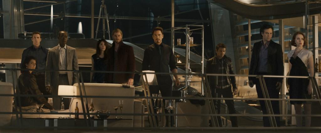 """Gli """"Avengers"""" in una scena del film"""