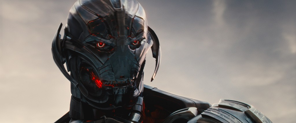 Il malvagio Ultron in una scena del film