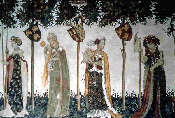 Gli affreschi del Castello della Manta (fonte: liceovalsalice.it)