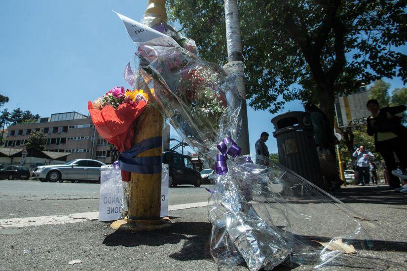 fiori incidente roma