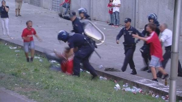 Tifoso del Benfica aggredito di fronte ai suoi figli (fonte: popoffquotidiano.it)