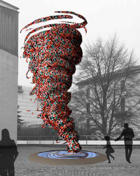 Il vortice di plastica di Maria Cristina Finucci