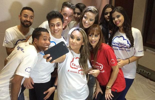 Bruna Karla, celebrità gospel brasiliana, è iscritta alla rete di FaceGloria (www.g1.globo.com)