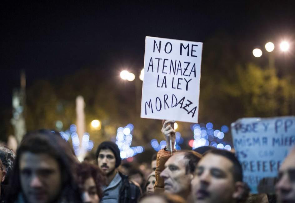 Protesta contro la Legge Bavaglio
