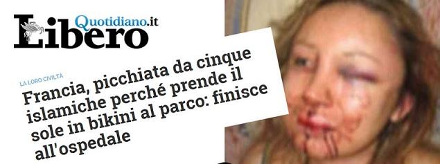 La notizia italiana dell'accaduto del parco di Reims (bufale.net)