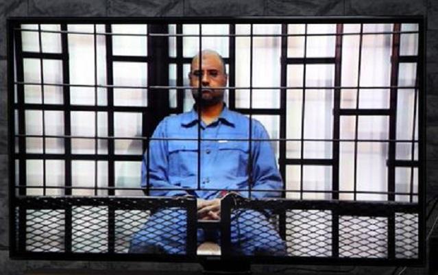 Saif Al-Islam in videoconferenza durante il processo (ansa.it)
