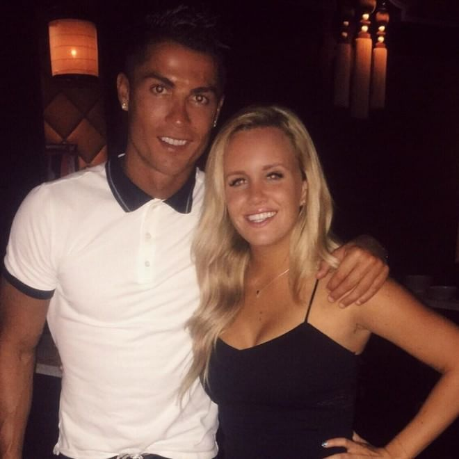 Cristiano Ronaldo in compagnia di Austin Milan (www.panorama.it)