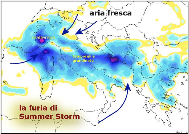 Perturbazioni coinvolgeranno l'Italia dalla Toscana al Lazio e alla Sicilia (tgworld24.blogspot.com)