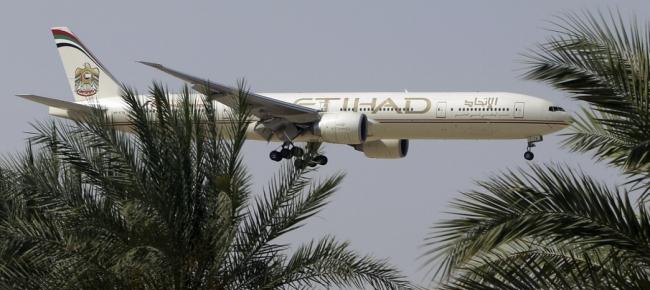 Un aereo di linea della Ethiad Airlines (www.tio.ch)