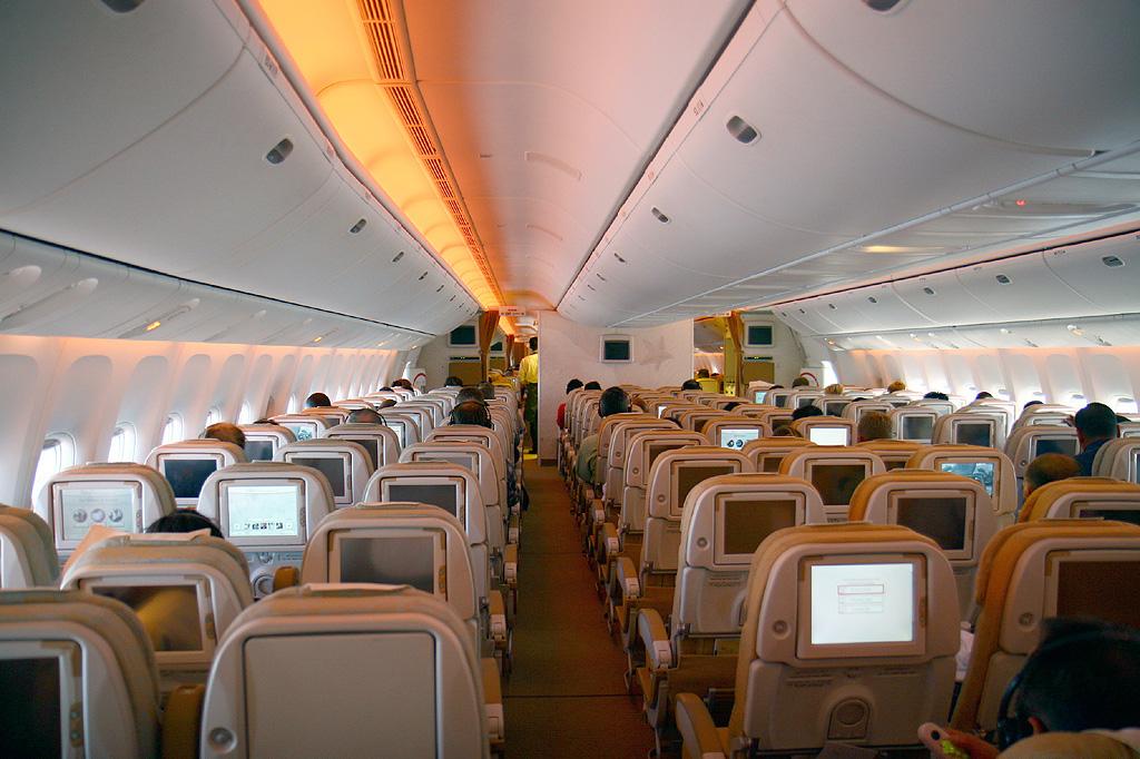 L'interno di un aereo della Ethiad Airlines (www.mxairport.it)