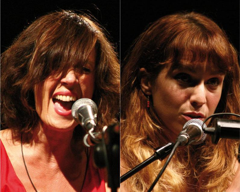 Isabella Ragonese e Cristina Donà (http://www.teatrodelledonne.com/avamposti.htm)