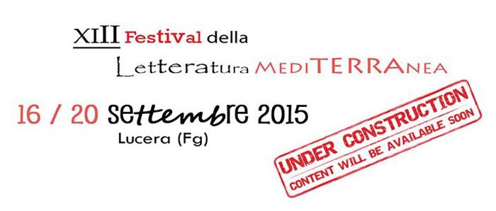 Sempre dal 16 al 20 settembre, nel Tavoliere delle Puglie, a Lucera (Fg) si svolgerà il Festival della letteratura mediterranea (www.indacoage.it)