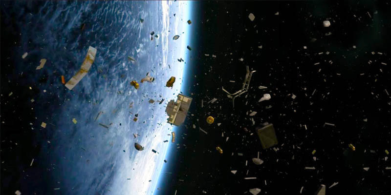 Frammenti di spazzatura spaziale (www.best5.it)