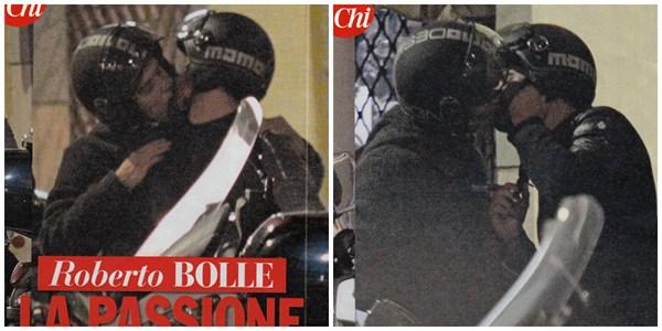 Il bacio tra Roberto Bolle e Antonio Spagnolo (fonte: gossip.it)