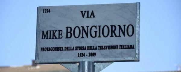 Via Mike Bongiorno (fonte: tvzap.kataweb.it)