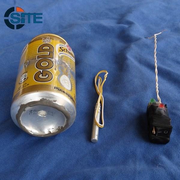 La foto della bomba pubblicata dall'Isis (fonte: twitter.com)