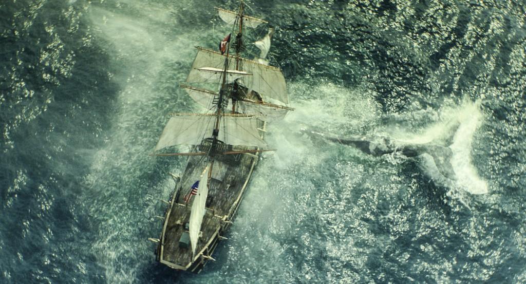 La Balena Bianca attacca la Essex in una scena del film