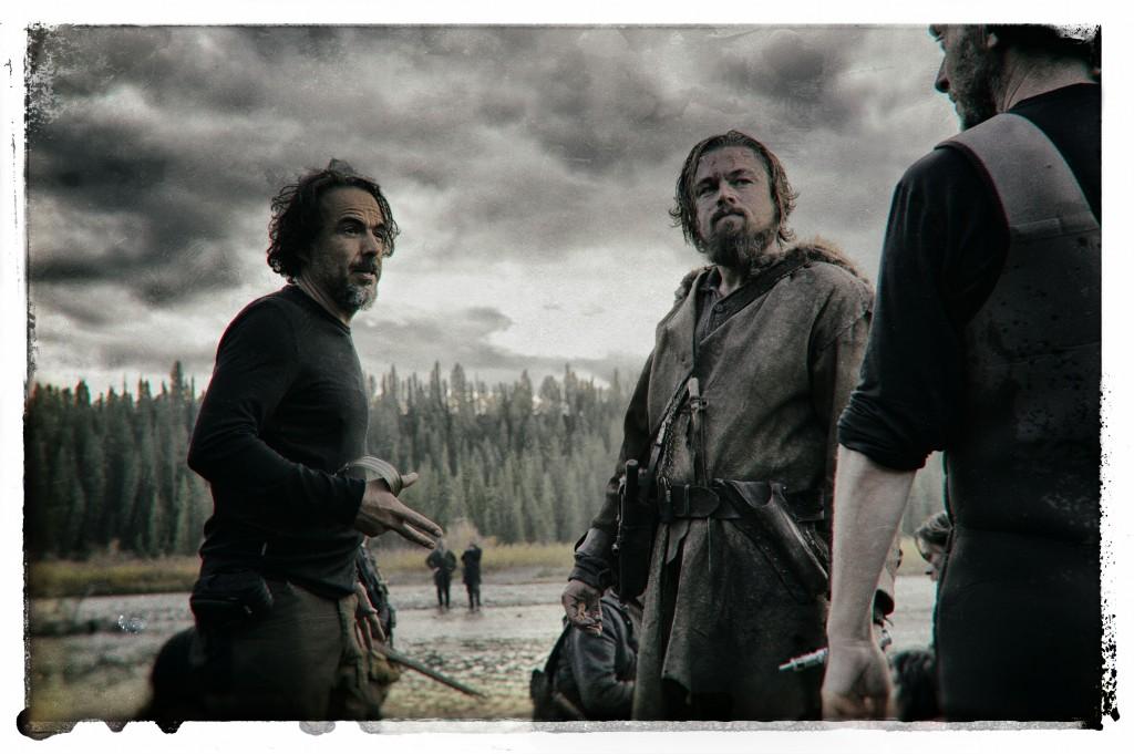 Alejandro G. Iñárritu e Leonardo DiCaprio sul set di 'Revenant - Redivivo'