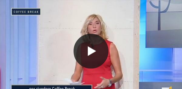 La provocazione di Myrta Merlino in diretta tv