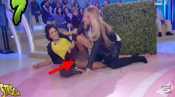 Caterina Balivo nell'incidente hot smascherato da 'Striscia La Notizia' (fonte: peoplexpress.it)