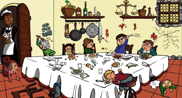 Capodanno: la tavola dei pargoli (Foto: www.oggi.it)