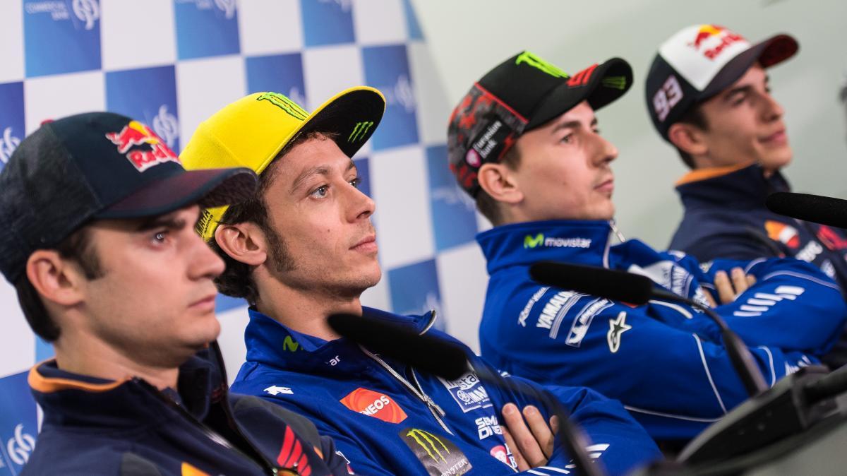 Pedrosa, Rossi, Marquez e Lorenzo: saranno loro i protagonisti della MotoGP 2016 (motogp.com)