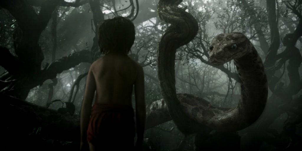 Kaa e Mowgli nel film Il libro della giungla