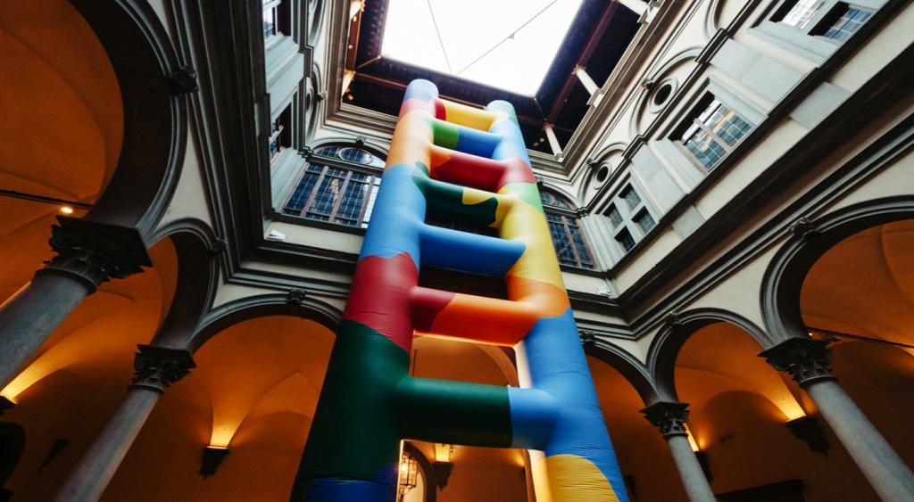 Il cortile di Palazzo Strozzi: allestimento a misura di bimbo