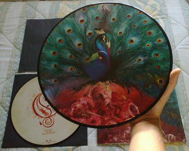 """Cose belle: la versione in doppio vinile picture disc di """"Sorceress"""", il nuovo album degli Opeth (foto di Stefano Gallone)"""