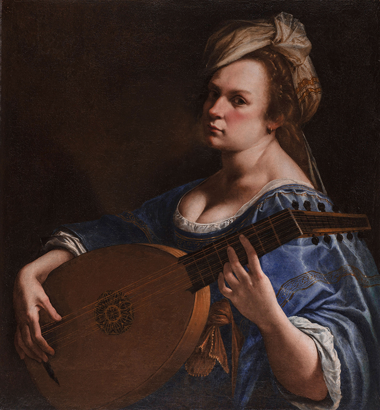 Artemisia Gentileschi. Autoritratto come suonatrice di liuto, 1617-1618. Hartford, Wadsworth Atheneum Museum of Art