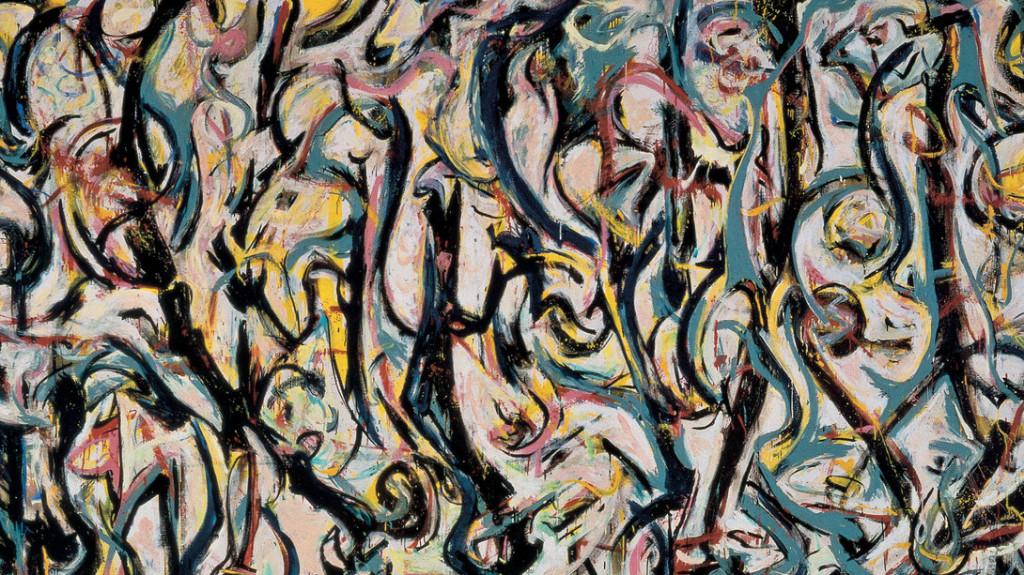 Jackson-Pollock-Murale-1943-particolare-olio-e-caseina-su-tela-2429-x-6039-Donazione-Peggy