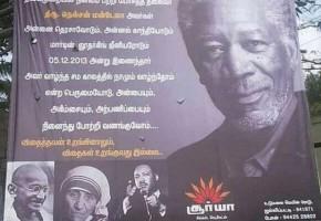 Morgan Freeman scambiato per Mandela. Accade in India
