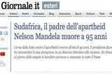 'Mandela padre dell'apartheid' la gaffe di alcuni giornali italiani