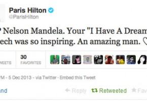 Paris Hilton confonde Mandela con Martin Luther King, ma è un fake