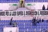 Lazio: lo striscione è sbagliato