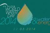 Giornata mondiale dell'acqua 2014: acqua ed energia