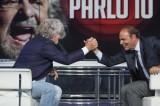 """Beppe Grillo consacra suo malgrado Bruno Vespa """"eroe"""" della serata"""