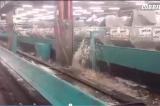 Il degrado di Fiumicino: pioggia su valigie, operai e prese elettriche