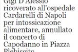 Gigi D'Alessio in ospedale, concerto annullato: ma è solo una bufala