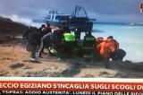 Maltempo. Voragine a Napoli e un peschereccio sugli scogli a Lampedusa