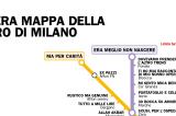 L'esilarante vera mappa della metro di Milano che fa impazzire il web