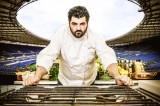 Chef Cannavacciuolo all'Olimpico trasforma lo cucina in uno show