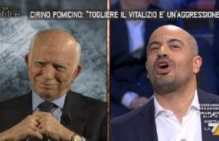 VIDEO La Gabbia, scontro acceso tra Pomicino e Paragone