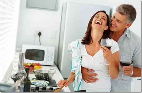risvegliare la passione della coppia, in cucina